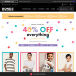 Bonds 40% off Online and Instore + Free Shipping over $29 Spend (Membership Required)