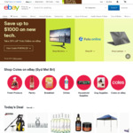 10% off Sitewide (Min Spend $120, Max Discount $50, Max 4 Transactions) @ eBay