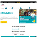 Optus New SIM Only Plans - 3GB $30/Month, 40GB $40/Month, 80GB+4GB Roaming $50/Month @ Optus