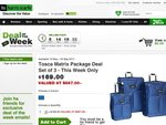 Tosca Luggage 3pc Matrix Collection $169.00 - free delivery from Harris Scarfe