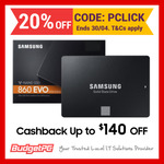 Samsung 860 Evo 1TB $181 (+$22 CB), 860 Evo 500GB $101 (+$17 CB), 970 Evo Plus 1TB $285 (+$35 CB) Delivered @ Budget PC eBay