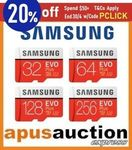 Samsung EVO+ SD Card 256GB $57.56 + Delivery (Free with eBay Plus) @ Apus eBay