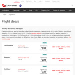 Qantas O/W to Sale: Syd to AKL/CHC/WLG from $219, Mel to Queenstown $199, BNE to CHC $199 + More (Non School Hols until Feb)