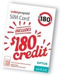 Coles Prepaid 365 Day SIM (Unlimited Talk & Text, 48GB Data) $130 (Save $50) @ Coles