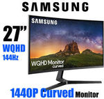 "Samsung JG50 27"" 2K WQHD Curved Monitor 1440P 144hz - $367.20 Delivered @ OLC Direct eBay"