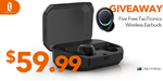 Win 1 of 5 TaoTronics TT-BH052 True Wireless Earbuds Worth $59.99 from SunValley Group