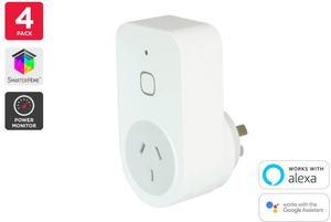 Kogan SmarterHome Smart Plug with Energy Meter - Pack of 4 $69