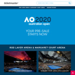 Free Kid's Tickets to the Australian Open Tennis (With Purchase of Adult Ticket, Up to 4 Tix) on 23/1/2020 via TicketMaster