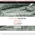 25% off French Linen Bedding @ I Love Linen