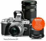 [eBay Plus] Olympus OM-D E-M10 Mark III + 14-42mm EZ & 40-150mm & 25mm F1.8 via Redemption $722.47 Delivered @ Teds Camera eBay