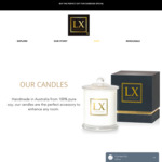 Up to 50% off Candles (100% Pure Soy Candles from $22) + Free Gift Bag, Wrapping & Shipping over $49.99 @ Luxescent