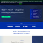 $10USD BONUS on $100USD Deposit and 6% BTC, 8.6% Stablecoins Interest @ Blockfi