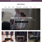 50% off Storewide + Free Delivery for $99+ Orders @ Julius Marlow