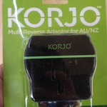 [NSW, QLD, VIC] Korjo Travel Adapters AU/NZ Plug $1 In-Store @ Tkmaxx