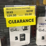 [WA] iDigital 64GB MicroSD Card $5 @ The Reject Shop