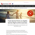 Triple Points on Qantas Flights within Australia @ Qantas.com
