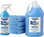 Aero Cosmetics Wash Wax All - Wet or Waterless Car Wash Kit (4.25L + 4 Microfibre Towels) $37.95 + Post ($0 Prime/$39+) @ Amazon