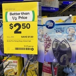 Ambi Pur Hang It Easy Velvet 2 Pack for $2.50 (Was $10) @ Woolworths