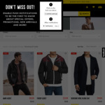 Men's Jacket/Coat Sale From $29.99, Wool Blend Coat $49.99 (+ $5 Shipping / C&C) @ Connor