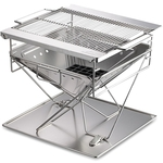 Camping Moon BBQ Stainless Steel Portable Folding Fire Pit, $229 Free Delivery @ Snowys