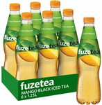 Fuze Peach Black Iced Tea Bottle, 6 x 1.25L $9.90 ($8.91 with S&S) + Delivery ($0 with Prime/ $39 Spend) was $19.80 @ Amazon AU