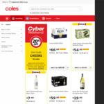 20% off Liquor (Maximum Savings Capped at $100) @ Coles Online