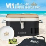 Win an Everdure Cube Portable BBQ & $100 Woolworths Gift Card from Beak & Sons
