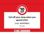 $10 off with $150 Minimum Spend @ Coles Online