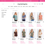 $3 Women's Tops + $10 Delivery ($0 with $100 Spend) @ Rockmans
