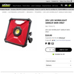 20V LED Worklight 1600lm (Skin Only) $10.00 C&C /+ Deliviery @ Autobarn