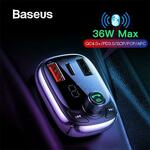 Baseus Car Bluetooth FM Transmitter MP3 Player Dual USB Type-C Car Charger A$17.58 Delivered @ eSkybird