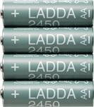 New IKEA LADDA Rechargeable Battery AA 1.2V 2450mAh $10 4-Pack @ IKEA