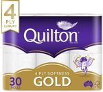Quilton Gold 4 Ply Toilet Tissue 30 Pack $15 ($13.50 S&S) + Delivery (Free with Prime/ $39 Spend) @ Amazon AU