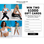Win 1 of 2 $1000 Gift Cards from Rockwear