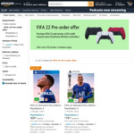 [Pre Order, PS4, PS5] Buy FIFA 22 $69/$79 Delivered & Get $25 off Select DualSense Controllers @ Amazon AU