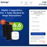 [NSW] 6.6kW Solar System (17 x 390W JA Panels & 5kW SAJ Inverter) $3,190 Fully Installed (Was $3,690) @ Synergy Solar