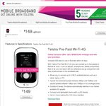 Online Offer: Telstra Pre-Paid Wi-Fi 4G $149 with 5GB Data Plus BONUS $40 Recharge Card