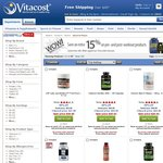 15% OFF Pre and Post-Workout Products @ Vitacost