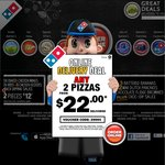 Domino's- Any Traditional Pizza on Cheesy Crust from $7 Pick up (Includes Designa)
