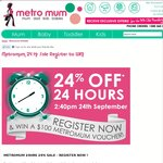Metromum 24HrSale | WIN $100 Gift Voucher
