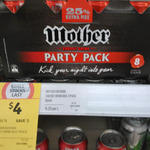 Mother 8x 200ml for $4 ($0.50/Can) @ Coles