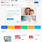 eBay Bub's Corner: $15 Coupon off Disposable Nappies + $10 Coupon for Baby Products