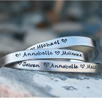 Personalize Stamped Name Aluminium Child's Bangle $19 Free Ship in 24 Hours @ Matchless Store