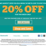 Bookworld 20% off