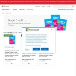 50% off Skype Credit with Free Delivery @ The Microsoft Store