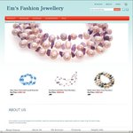 50% off All Gemstones and Peals Jewellery. Free Delivery @ Em's Fashion Jewellery