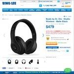 Beats by Dr. Dre - Studio Wireless - Matte Black for $361.25 Delivered (25% off Headphones Sale) @ Bing Lee