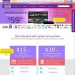 Dodo Unlimited ADSL2+ with Fetch TV Lite $39.90 P/M (Min Cost $1026.60)