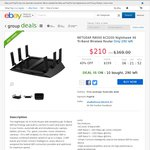 NetGear R8000 AC3200 Nighthawk X6 Router $210.00 Delivered @ Shallothead [eBay Group Deal]