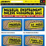 JB Hi-Fi Musical Instrument Online Sale (Pioneer SEMJ721 Headphones $21) - Free Delivery